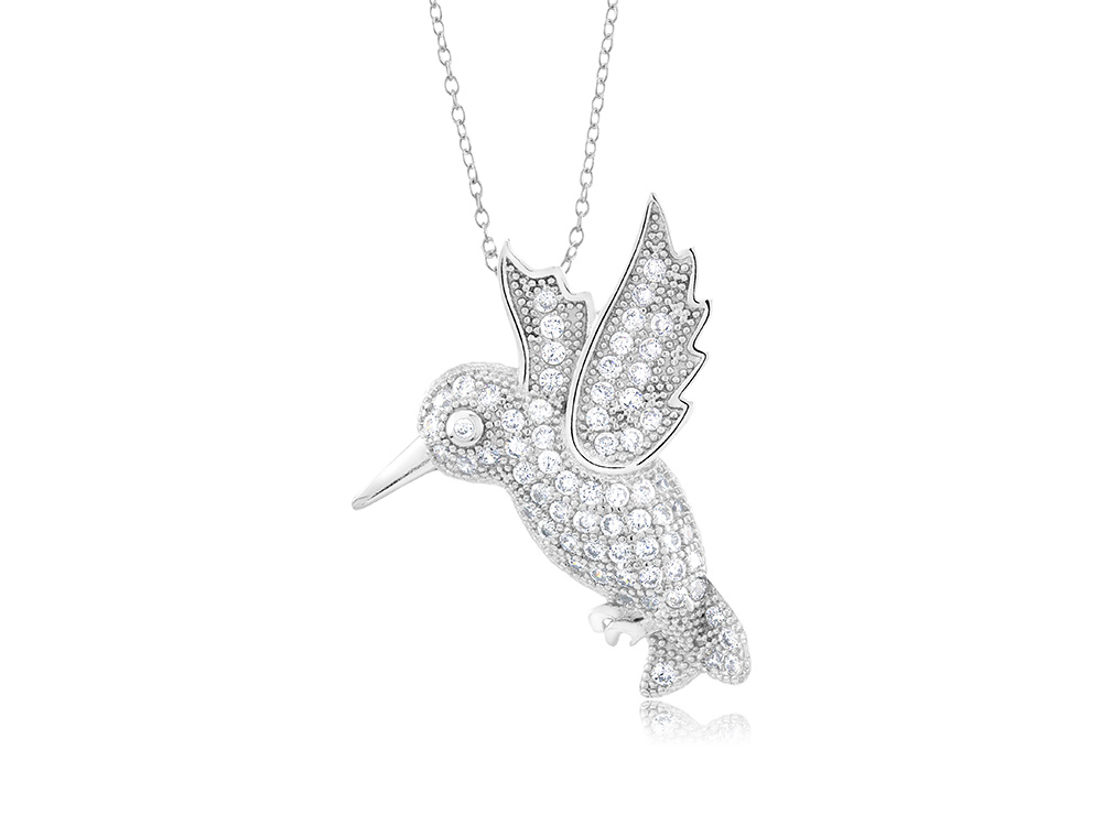 925 - Sterling - Humming Bird Medium Pendant