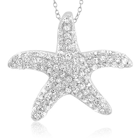 925 - Sterling - Starfish Medium Pendant