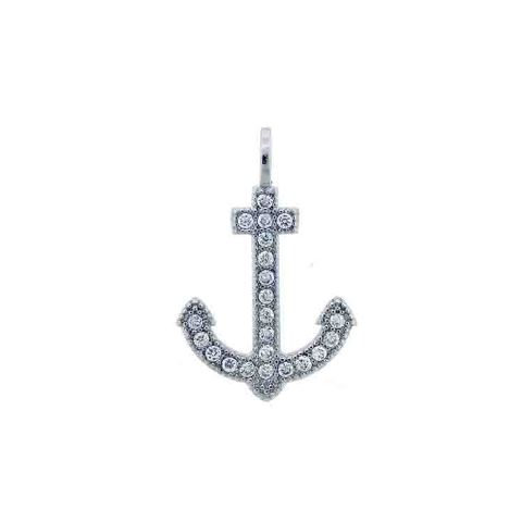 925 - Sterling - Anchor Shaped Pendant