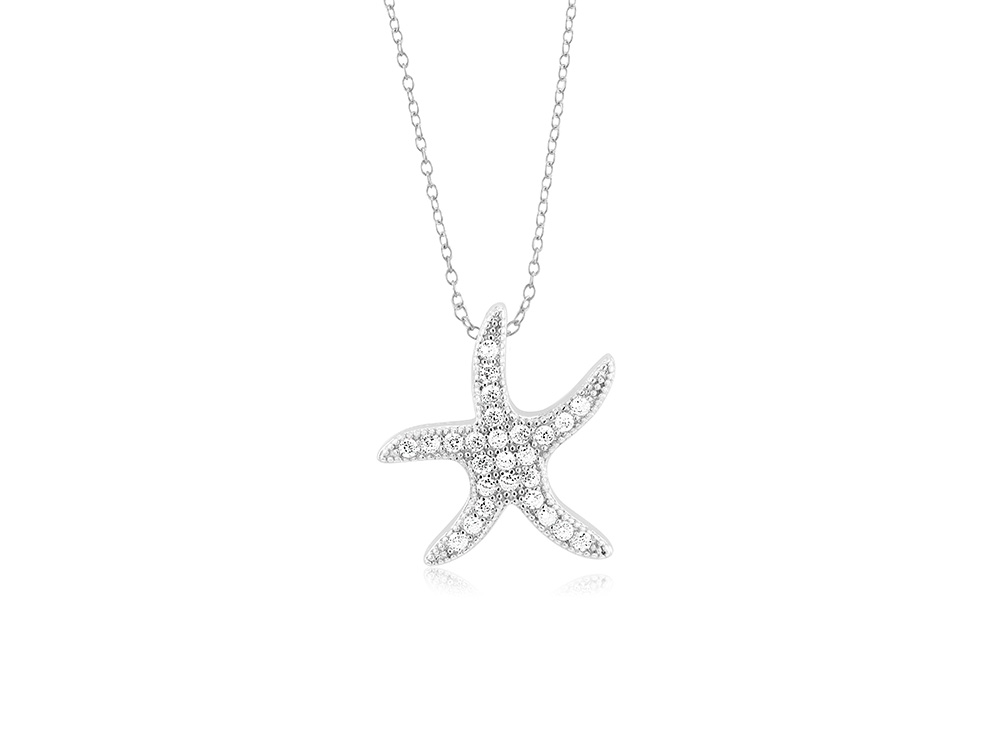 925 - Sterling - Starfish Small Pendant