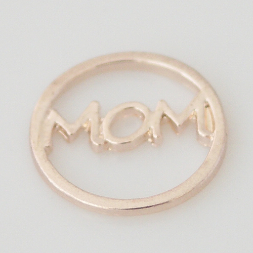 Memory Locket Window Plates Mom - Rose Gold