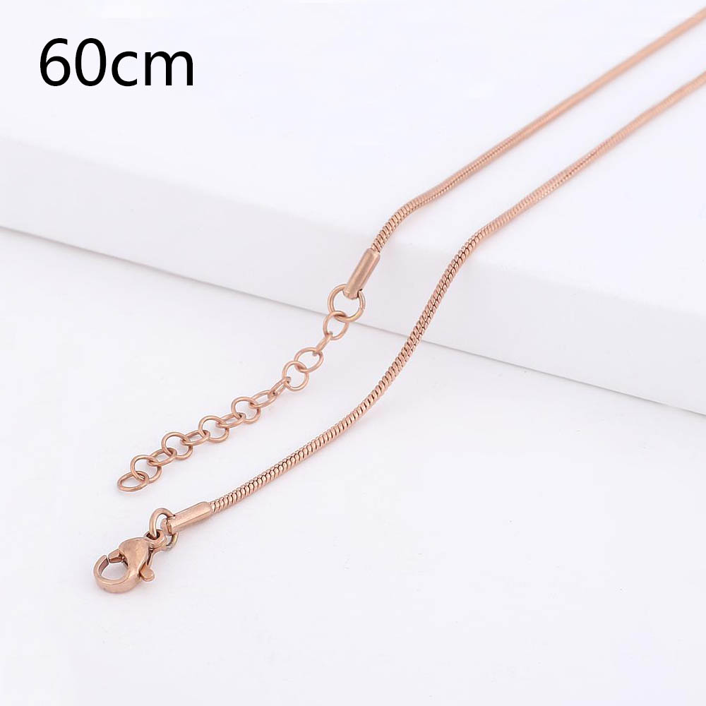 Stainless Steel Snake Chain Rose Gold Tone - 24 inches