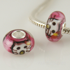 925 Glass Beads - Kitty Cat