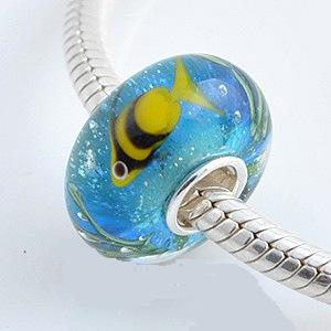 925 Glass Theme Beads - Fish