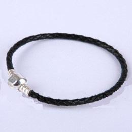 925 Sterling Leather Bracelet - 20CM - 8IN