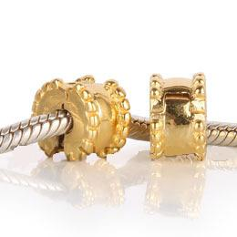 925 - Clip Stopper Charm - Gold