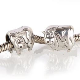 Charm 925 Silver - Cow
