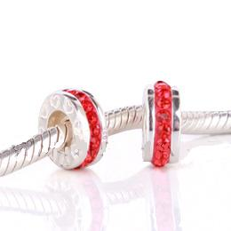 Charm 925 - 1 Row - Red