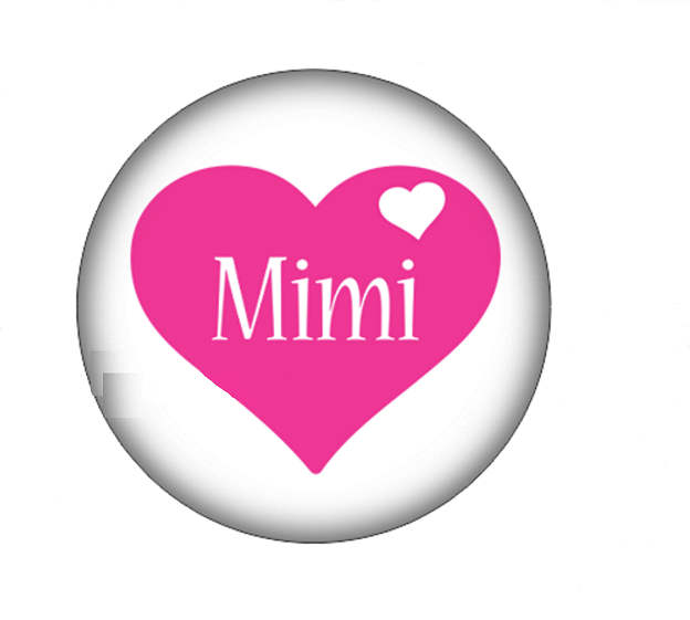 Snap Jewelry Glass - MIMI Heart