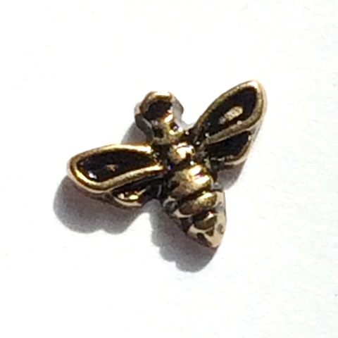 Memory Locket Charms Bee Gold