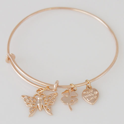 A&A Inspired Bracelet - Butterfly Rose Gold