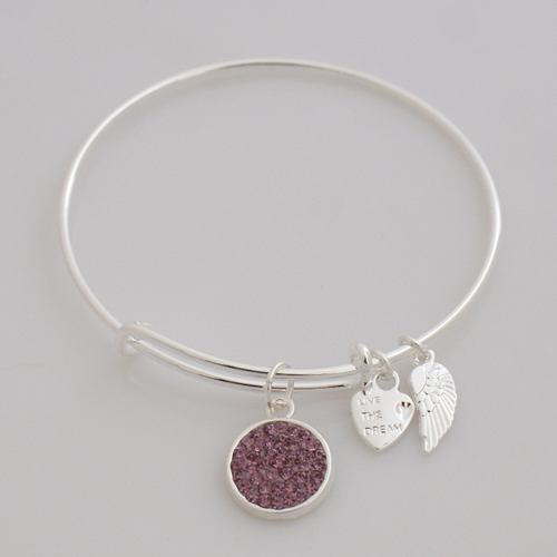 A&A Inspired Crystal Bracelet - Light Purple