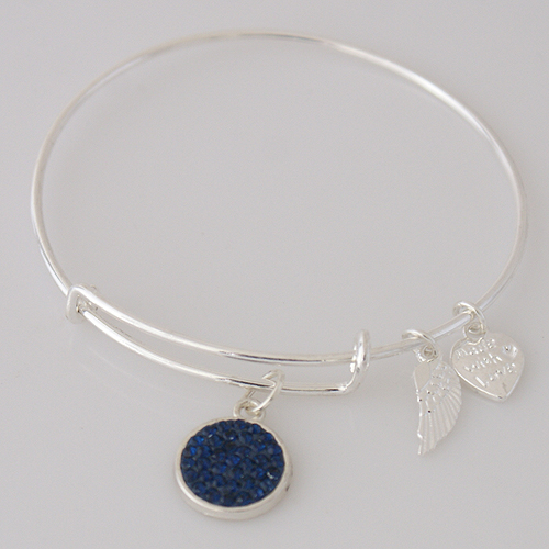 A&A Inspired Crystal Bracelet - Dark Blue