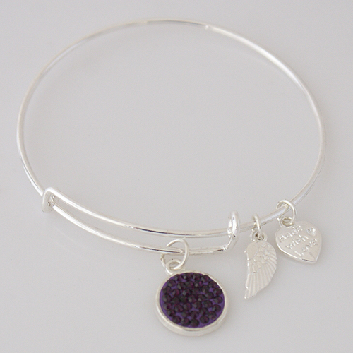 A&A Inspired Crystal Bracelet - Dark Purple