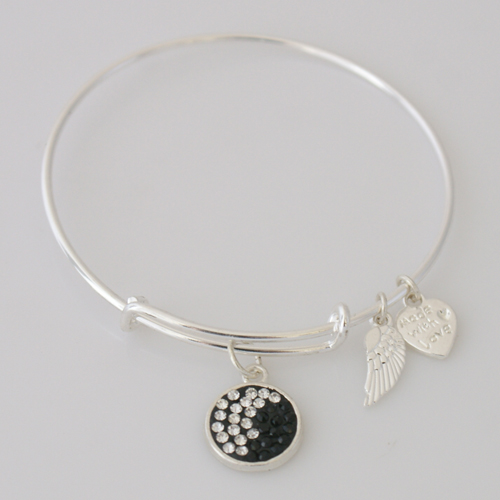 A&A Inspired Crystal Bracelet - Black & White