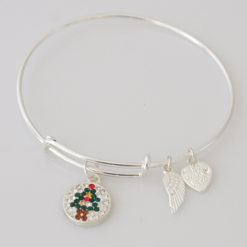 A&A Inspired Crystal Bracelet - Christmas Tree