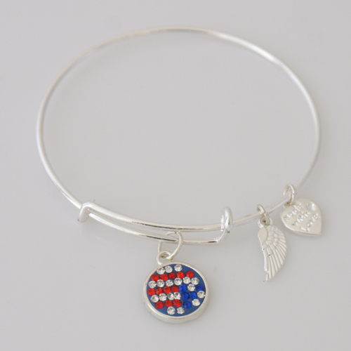 A&A Inspired Crystal Bracelet - USA American Flag