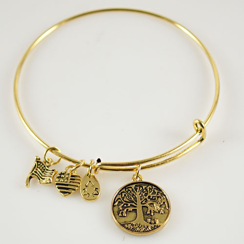 A&A Bracelet - Tree of Life, Flag - Rose Gold Plated