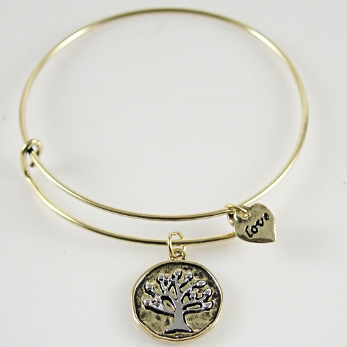 A&A Bracelet - Tree of Life, Love - Gold & Silver