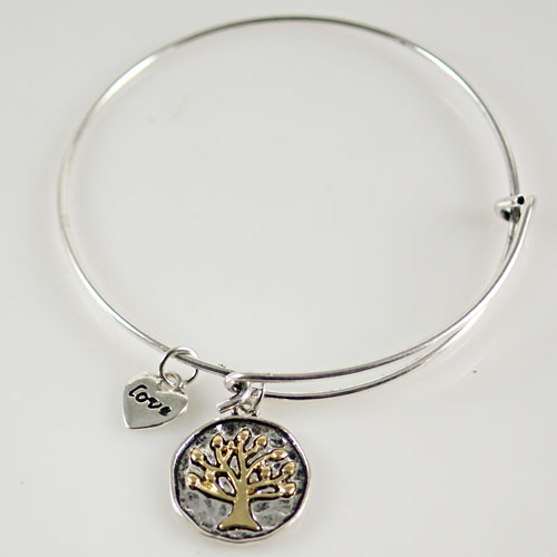 A&A Bracelet - Tree of Life, Love - Silver & Gold