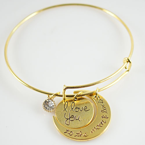 A&A Bracelet - I love you to the Moon - Gold