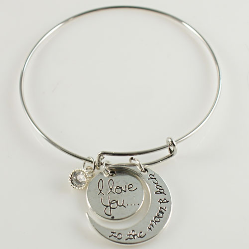 A&A Bracelet - I love you to the Moon - Silver