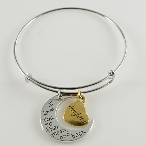 A&A Bracelet - I Love You To the Moon and Back - Daughter