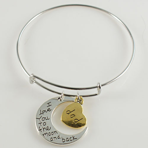 A&A Bracelet - I Love You To the Moon and Back - Dad