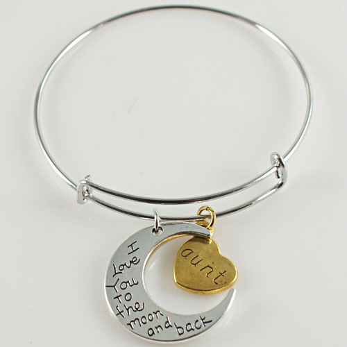 A&A Bracelet - I Love You To the Moon and Back - Aunt