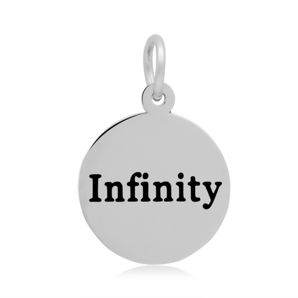 16*24mm Small Stainless Steel Charm - Round Infinity