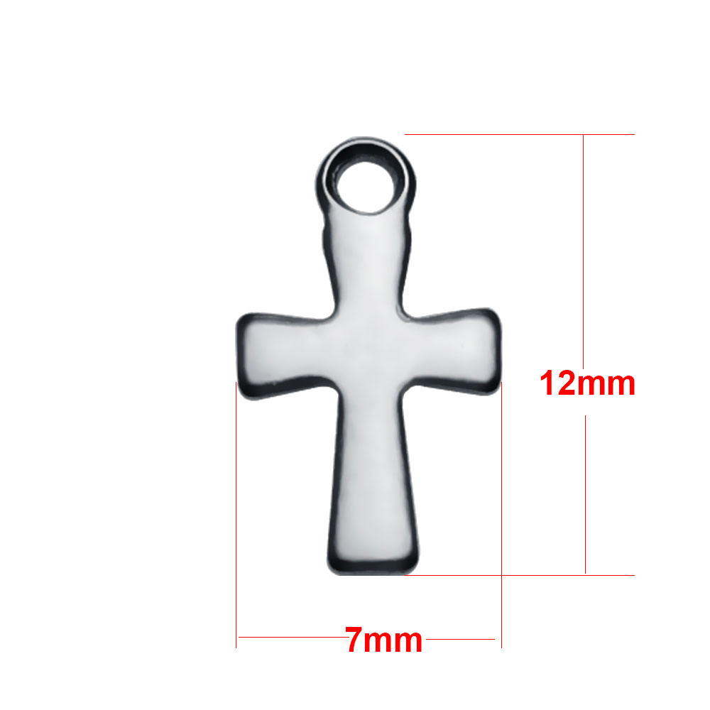 Small Stainless Steel Charm 07*12mm - Cross