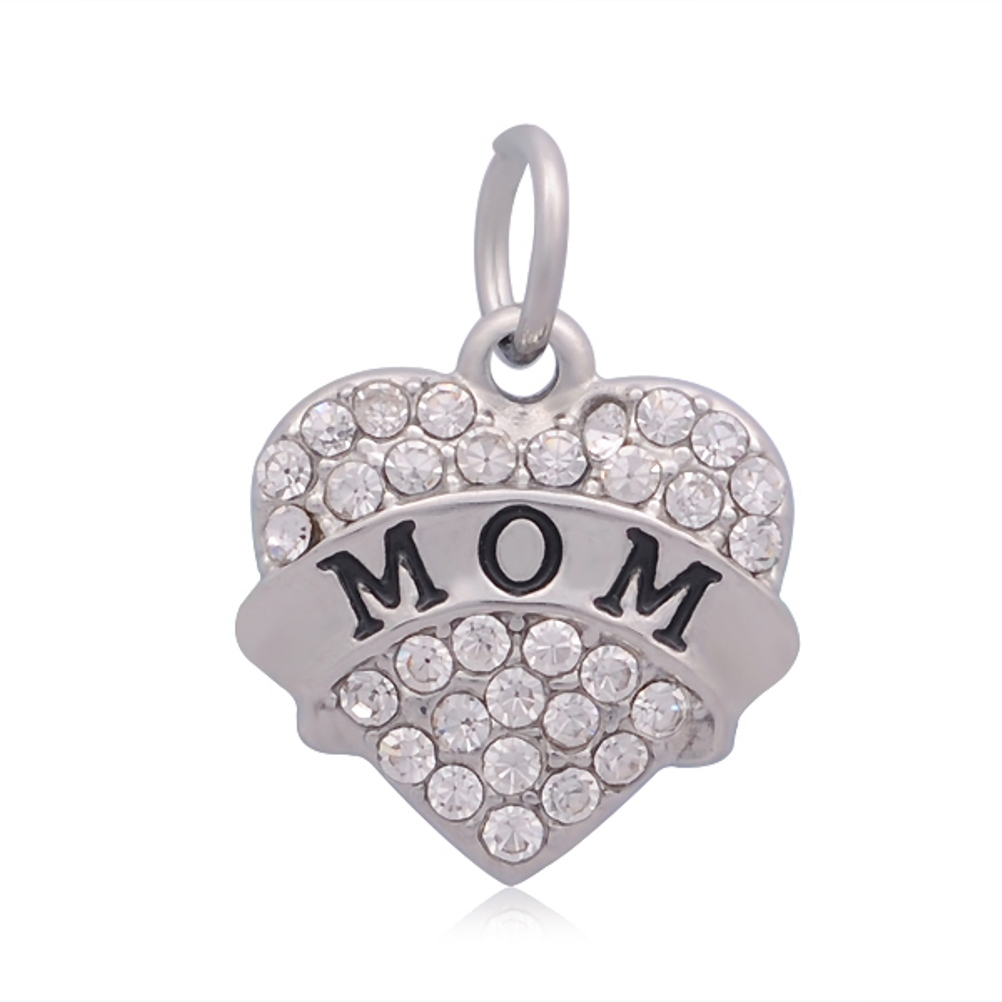 Small Stainless Steel Charm 17*20mm - Mom