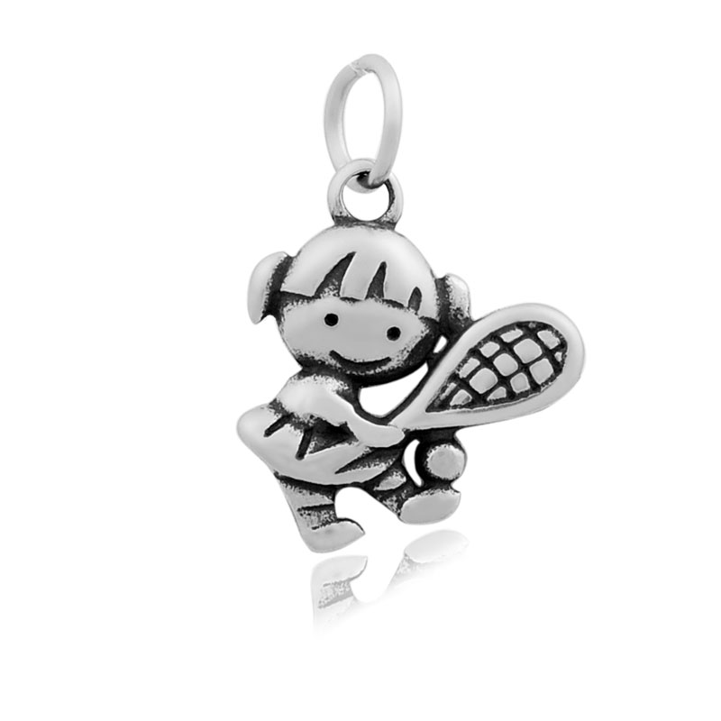 17*24mm Small Stainless Steel Charm - Tennis