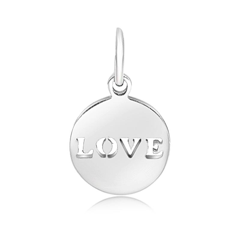 12*20mm Small Stainless Steel Charm - Love