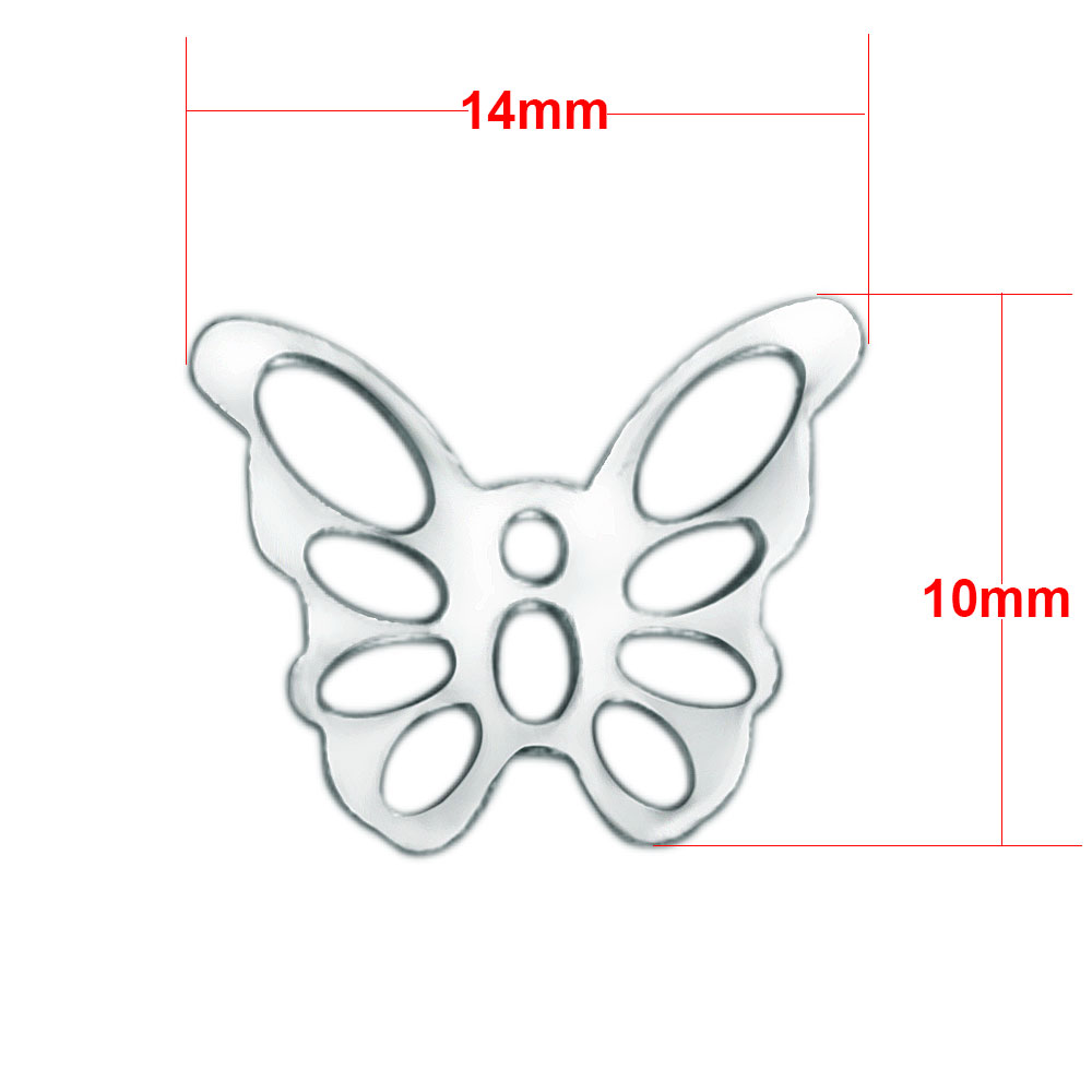 Small Stainless Steel Charm 10*14mm - Butterfly