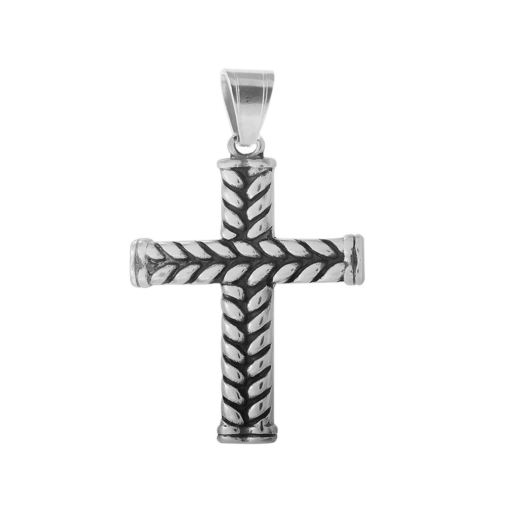 XLarge Stainless Steel Charm 58*38mm - Cross