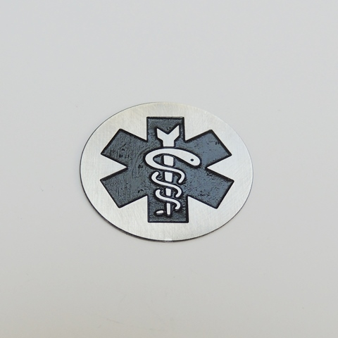Memory Locket Plates Medical Caduceus
