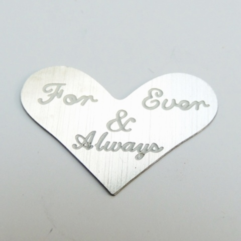 Memory Locket Heart Plates 25mm For Ever & Always Silver