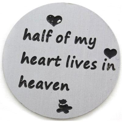 Memory Locket Plates - Half my heart lives in heaven