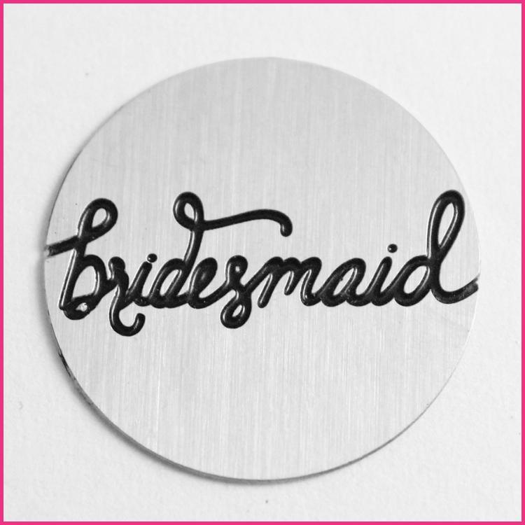 Memory Locket Plates Bridesmaid Script