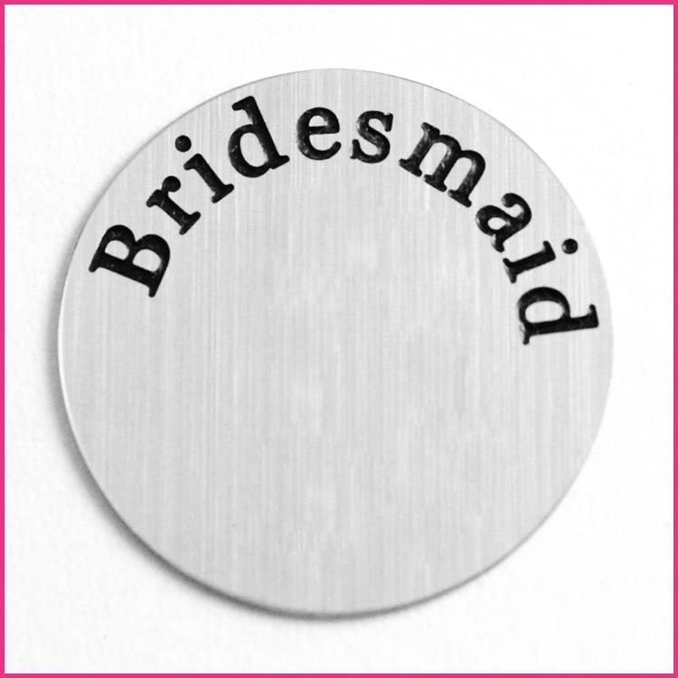 Memory Locket Plates Bridesmaid