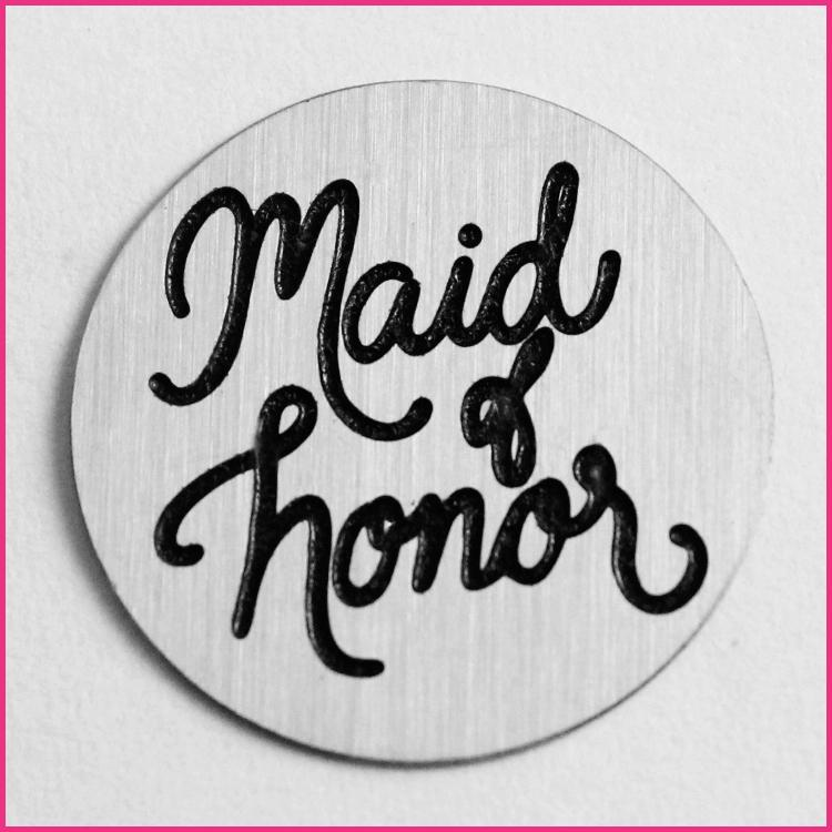 Memory Locket Plates Maid of Honor Script