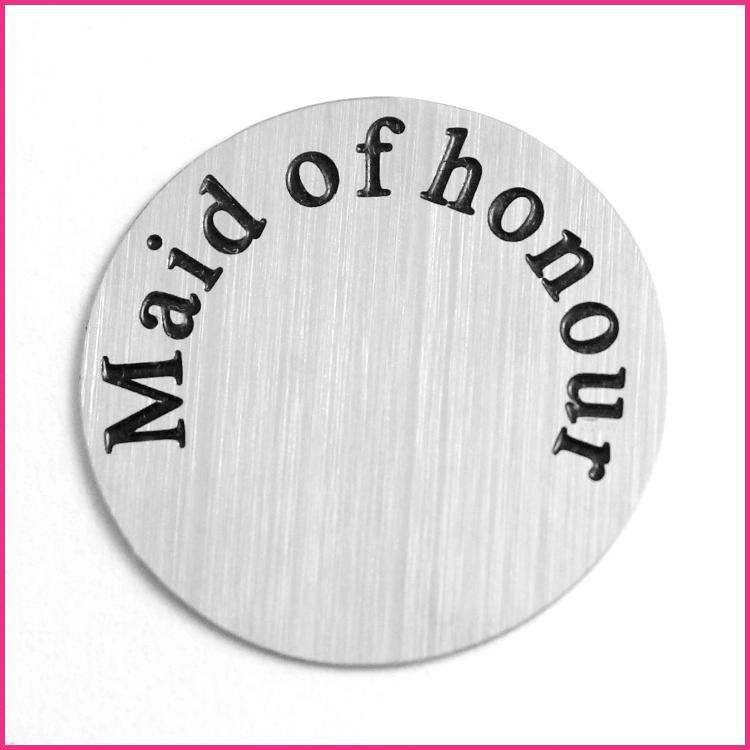 Memory Locket Plates Maid of Honor