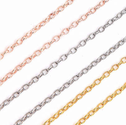 "Stainless Steel Rolo Chain - 18"" Gold"