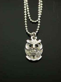 Owl Anklet Double Strand Chain - Clear