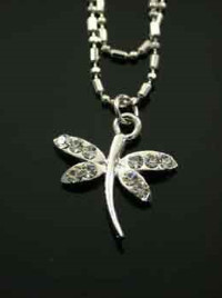 Dragonfly Anklet Double Strand Chain - Clear