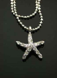 Star Fish Anklet Double Chain - Clear & Small