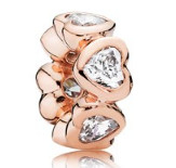 Charm 925 - Rose Gold Spacer Space In My Heart