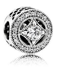 Charm 925 - Silver Vintage Allure Clear CZ
