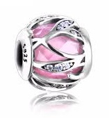 Charm 925 - Silver Natures Radiance Pink & Clear